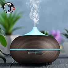 550ml umidificador de ar madeira controle remoto elétrico óleo essencial aroma difusor umidificador ultra sônico com luz led para casa