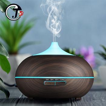 550ml nawilżacz powietrza drewno pilot elektryczny dyfuzor zapachowy ultradźwiękowy nawilżacz z LED Light dla domu tanie i dobre opinie JE J COTTON DESIGN 1l 24 v 36db CN (pochodzenie) Ultradźwiękowe Aromaterapia Gospodarstw domowych Inne 11-20 ㎡