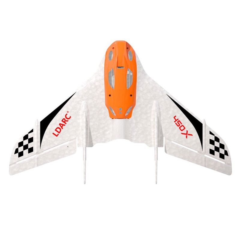 2PCS KINGKONG/LDARC TINY WING 450X V2 431mm Wingspan EPP Foam FPV RC Airplanes Flying Wing KIT Version RC Fixed-wing Drones Toys