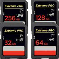 Extreme Pro/64 32 Cartão De Memória Ultra 128 GB U3/U1 32 Cartão SD GB 128 GB 64GB 256GB de Memória Flash Card SD SDHC SDXC