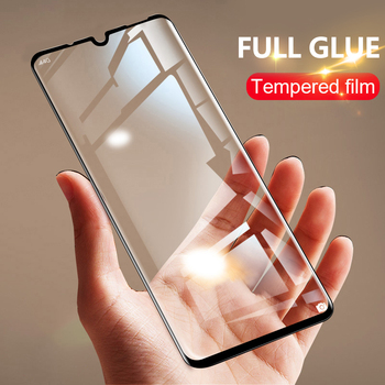 цена на 4-1pcs Full glue for realme xt x2 pro C15 glass screen protector tempered for oppo A5 A9 2020 A72 6 5 pro C3 5I V5 5G glass