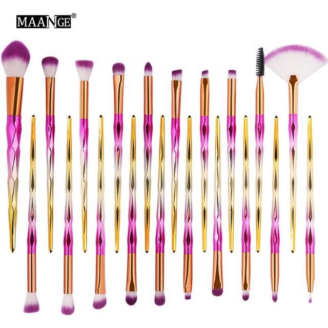 Nouveau 20pc pinceaux de maquillage ensemble professionnel doux cosmétique complet Eyeliner ombre à paupières sourcils fond de teint pinceaux de maquillage femmes