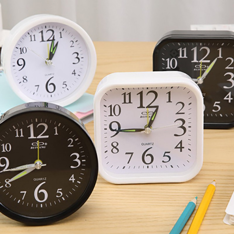 Small Alarm Clock Simple Style Circular