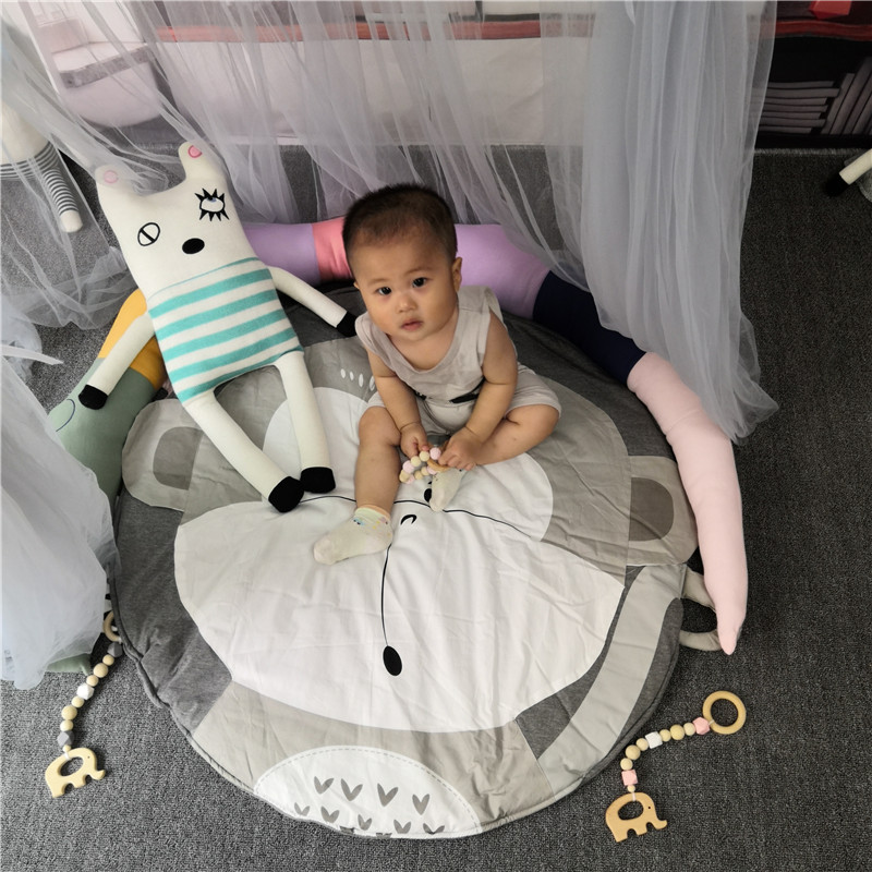 H3e7aa704d3d4469fb336919ce39c1fda5 Child Play Mats kids animal Crawling Carpet Floor Rug Baby soft cotton sleeping Game rugs Children Room Decor Photo Props 90CM