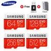 100% 기존 SAMSUNG EVO + Micro SD 카드 128GB 16G 32GB Class10 SDHC SDXC UHS-1 메모리 카드 256GB MicroSD TF 카드 64GB 80 메가바이트/초