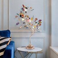 Nordic Light Living Room Lamp Color Decorative Table Lamp Modern led Bedroom Lamp Villa Romantic Wedding Room Agate Table Lights