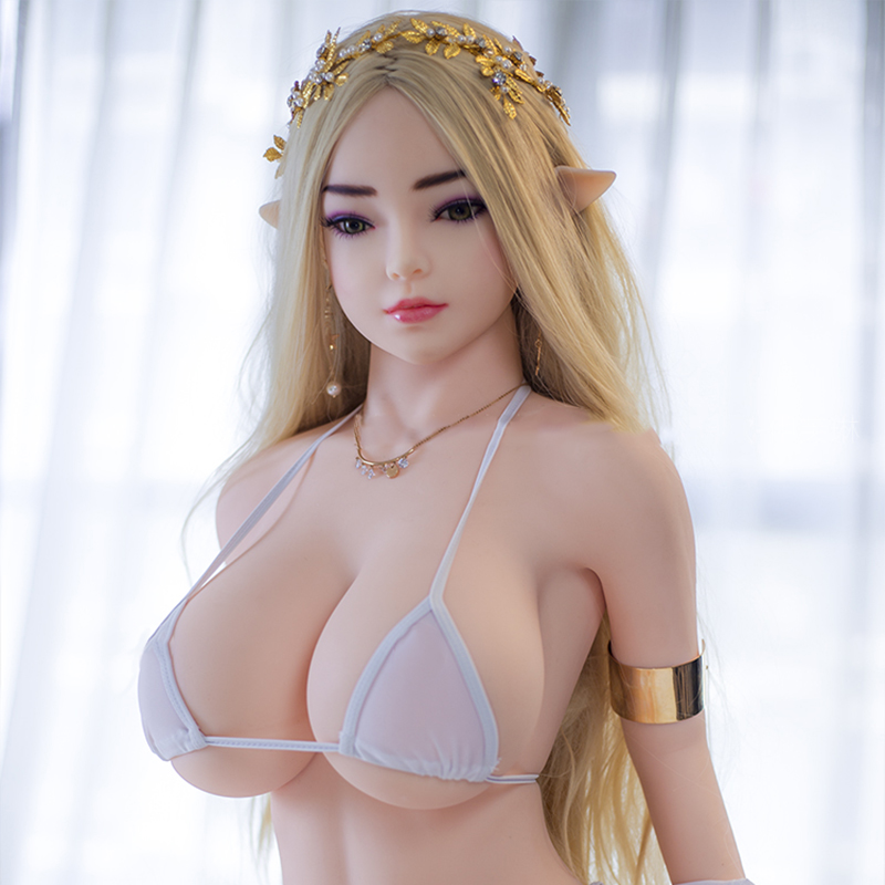 <font><b>140cm</b></font> TPE <font><b>Sex</b></font> <font><b>Doll</b></font> with Pointed Elf Ears Big Tits Hot Girl Silicone Love <font><b>Dolls</b></font> Real For Male image