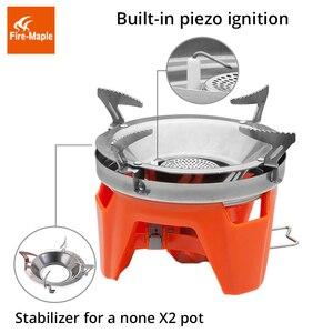 Image 5 - Fire Maple X2 открытый газовая горелка плита туристическая портативная система приготовления пищи с теплообменником горшок FMS X2 Кемпинг Пешие Прогулки газовая плита горелки