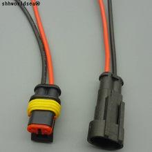 2 shhworldsea 1.5 milímetros masculino feminino Pin Way Selado Conjunto auto conectores com cabo Conector Do Fio Elétrico À Prova D' Água