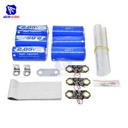 Diymore Super Farad Condensator 2*3 PCS/Set 2.85V 3000F DIY Set 17V 566F Super Condensator set/w Bescherming Boord Aluminium Plaat