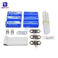 diymore Super Farad Capacitor 2*3PCS/Set 2.85V 3000F DIY Set 17V 566F Super Capacitor Set /w Protection Board Aluminum Sheet