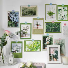 15 Sheets Beautiful Flower Landscape Ins Wall Decorative Card Greeting Postcard Birthday Gift Card Stationery School Supplies