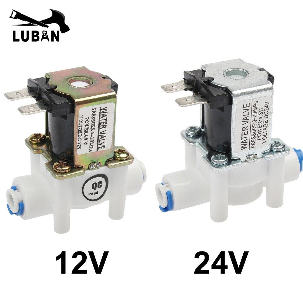 Válvula de solenoide eléctrica NC, interruptor magnético de flujo de entrada de aire de agua DC 12V 1/4