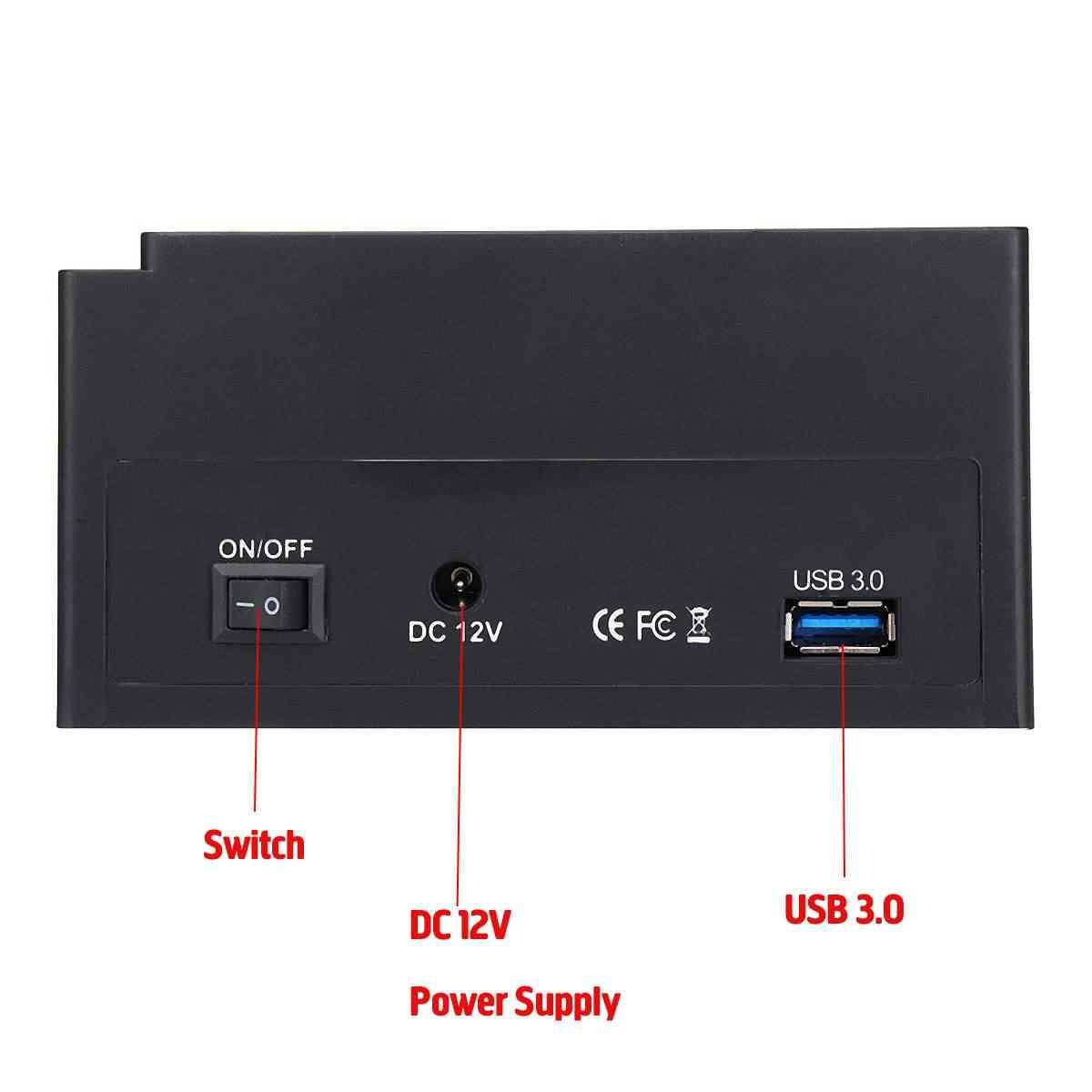 """2.5 """"3.5"""" USB 3.0 USB 2.0 2 SATA منافذ 1 IDE ميناء خارجي HDD القرص الصلب محطة الإرساء قارئ بطاقات USB3.0 Hub قالب أقراص صلبة"""