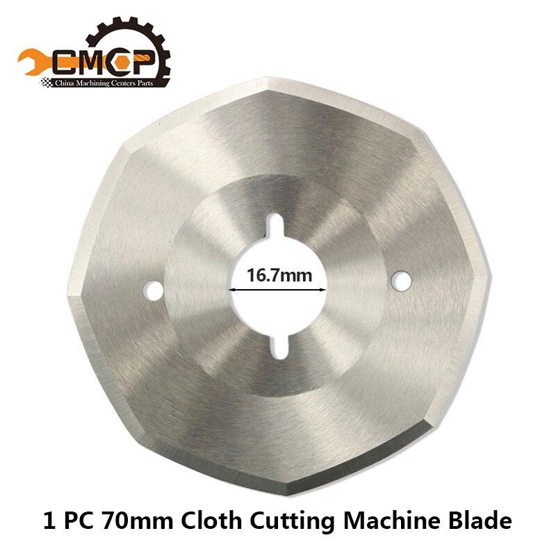 Free Shipping 1PC Out Daimeter 70mm Cutter Blade For Cloth Cutting Machine Blade HSS Fabric Cutting Knife HSS Cutting Disc