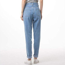 Women's High Waist Jeans plus size Loose straight Trendy Casual Mom jea