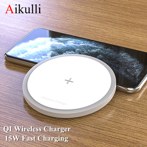 Aikulli 15W Qi Wireless Charger Pad Fast Charging For iPhone 11 Pro Xs Max X Xr 8 For Samsung S20 Xiaomi mi 10 9 Wireless Charge