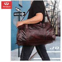 Retro leather men's bag large capacity multifunctional portable luggage travel bag sports fashion new men's bag