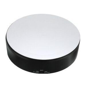 Image 2 - Réglable rotatif 360 degrés rotatif bijoux organisateur bijoux emballage présentoir alimenté par batterie plateau tournant boîte à bijoux