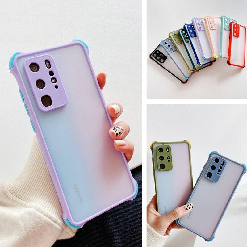 Anty spadek etui na telefony dla Huawei P inteligentny 2021 Honor 9S 9C 9A Y9A Y7A Y9S Y7P Y8S Y5P Y6P 2020 proste matowy przezroczysta pokrywa