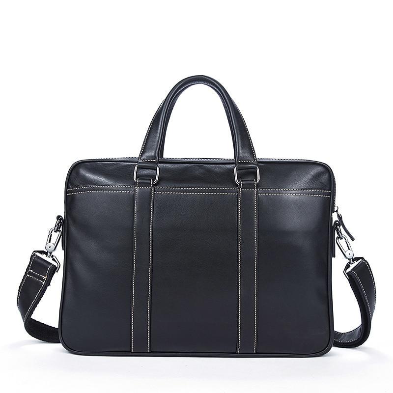 Genuine Messenger Bag Men Leather Male Package Color Business Affairs Man Document Layer Cowhide Men's Handbag Single Briefcase