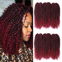 Amir12inch Marley bob Braids Ombre red purple blue Crochet Braiding Hair 3Pack/Lot Synthetic Curly Hair Extensions for Women