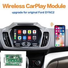 Viskoo apple carplay android módulo de atualização automática para ford sync2 kuga foco borda ecosport fusão mustang carplay