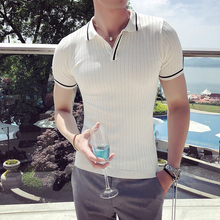 British Style Summer Polo Shirt Men Fashion 2020 Streetwear Knitted Polo Homme Breathable Slim Fit Short Sleeve Mens Polo Shirts