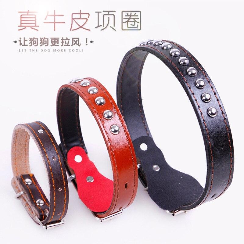 Dog Hand Holding Rope Dog Neck Ring Pet Collar Large Dog Cowhide Collar Golden Retriever Neck Ring Medium-sized Dog