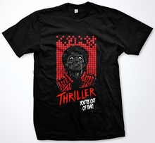 MJ Michael Jackson Thriller Zombie Halloween Retro 16 Bit Funny T-Shirt