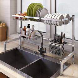 Neue küche dish rack besteck tasse teller waschbecken küche lagerung rack küche geschirr stäbchen lagerung rack