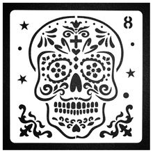 8PCS  Halloween Decor Stencils Template for Face Painting DIY Drawing Painting T M17F