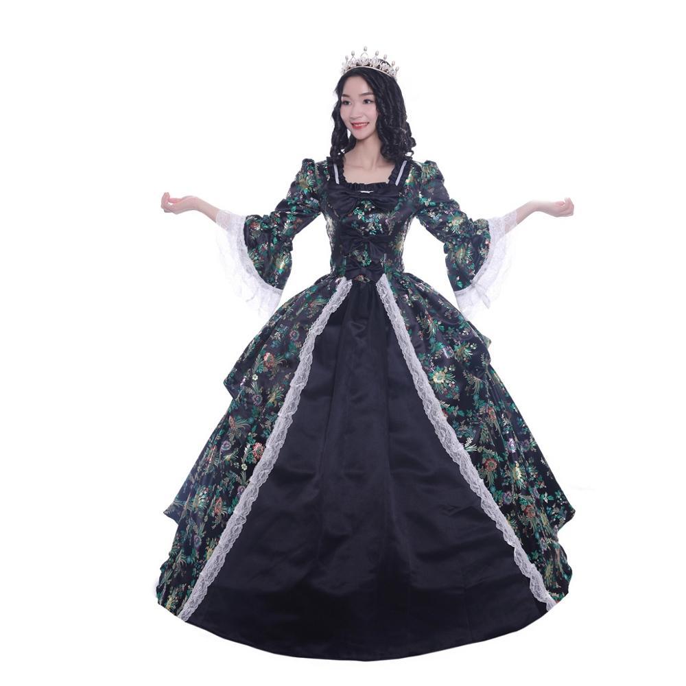 OEM classique Lolita victorien robe médiévale robe de bal femmes filles Satin Cosplay Costumes Champagne/doré Lolita sans manches