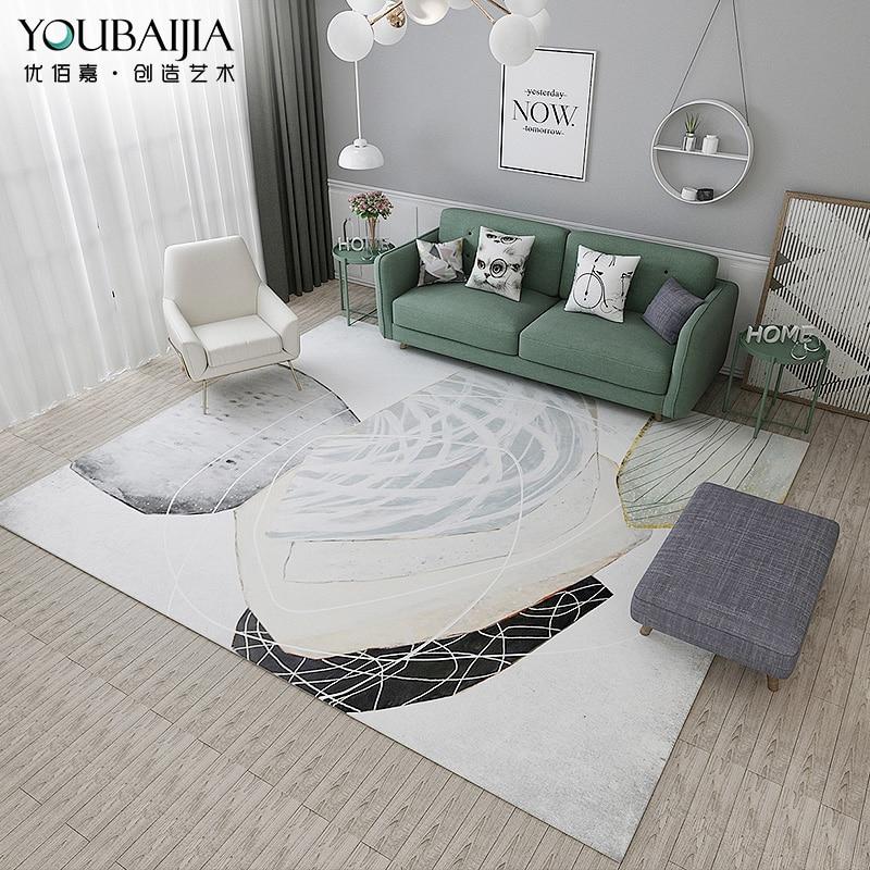 Tapis chambre nord-Style européen chambre tapis boutique mignon moderne abstrait Table basse tapis salon