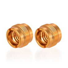 Screw-Adapter Microphone Stand-Clamp To Male for Gold-Color 2pcs Threaded-Nut 3/8inch