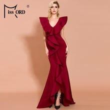 Missord 2020 сексуальные платья без рукавов с v образным вырезом