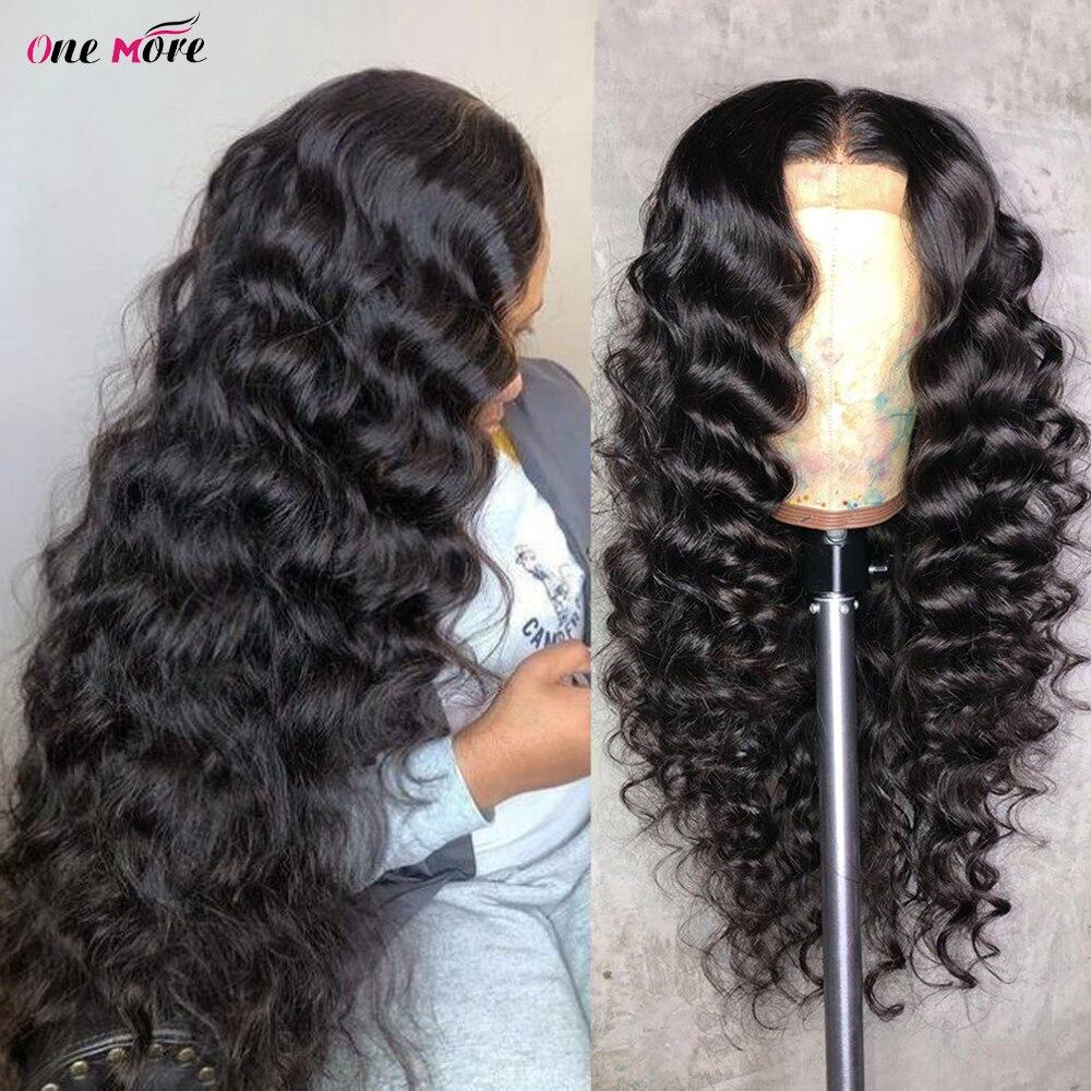 Peluca con malla frontal holgada de ondas profundas, densidad del 250, 13x4, peluca de cabello humano prearrancada con encaje frontal, cierre 4x4, pelucas de cabello brasileño Remy