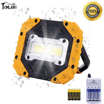 100W Led Work Light 180 Degrees Adjustable Super Bright Waterproof Lanterns Spotlight for Outdoor Repairing Camping Uses 4AA image