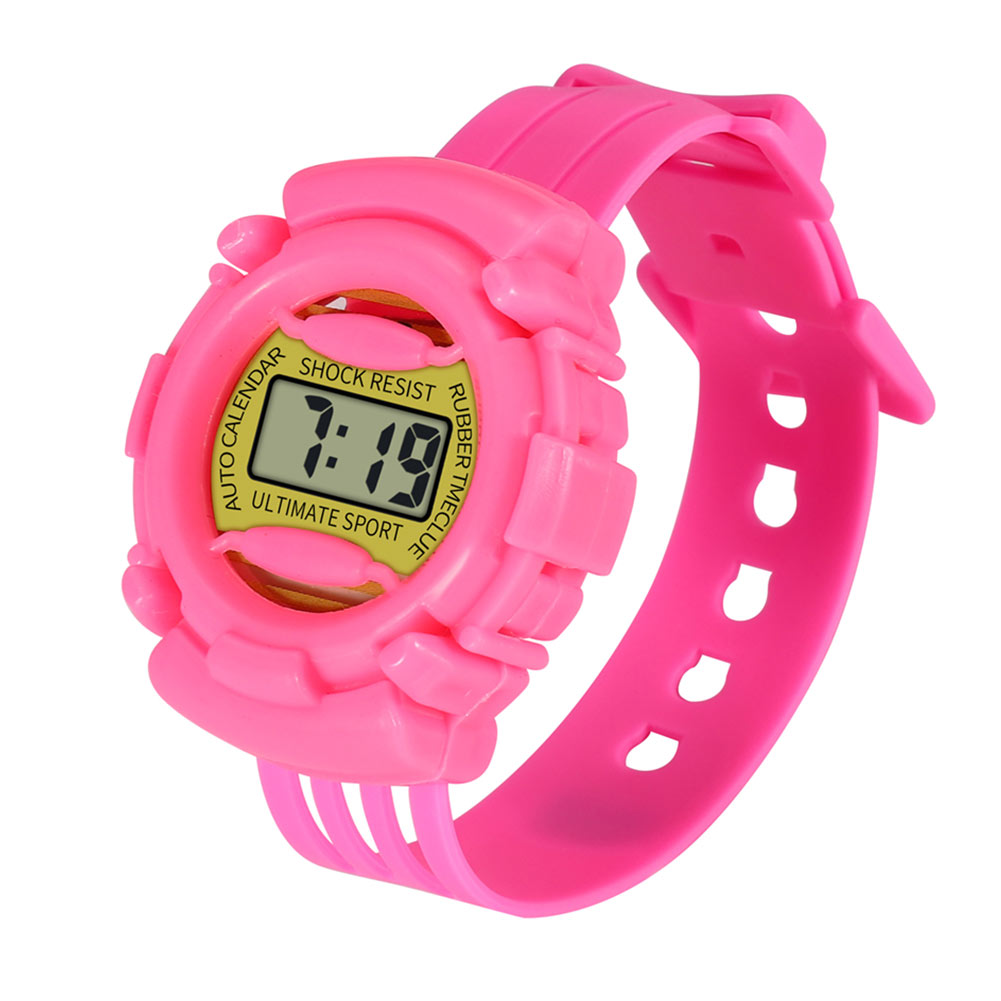 Lightweight And Durable Kids Casual Electronic Watch Children Silicone Sports Watches  S55