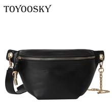 TOYOOSKY Fanny Pack Women Shoulder Bag PU Leather Chest Zipper Waist Belt Fashion Travel Phone Pouch