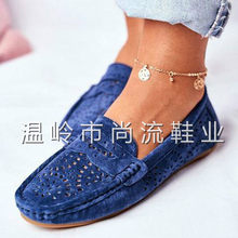 Summer Women Flat Shoes Soft Casual Loafers Female Ballet Flats Sweet Cut Out Suede Slip On Moccasins Breathable Ladies Footwear(China)