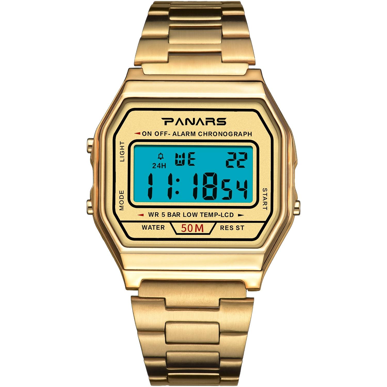 NEW Women Watches Fashion Rose Gold Digital Watches Ladies Dress Steel Belt Wristwatches Top Brand Luxury Relogio Feminin Clock