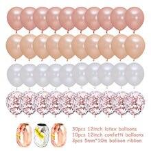 40 pçs/lote 12 Polegada rosa de ouro látex confetes conjunto balão cromo aniversário casamento aniversário do chá bebê festa decoração presente