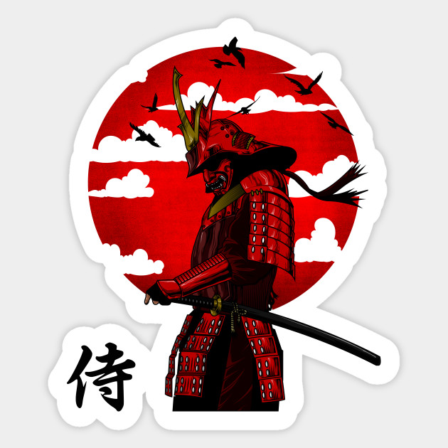 1PCS SAMURAI WARRIOR Sticker For Trolley Case Backpack Table Cool Skateboard Motorcycle Car Sticker Decal Car Accessories