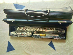 Professional New flute music instrument 17 E-Key Silver C Tune open close commonly used flute Gold Mouthpiece free
