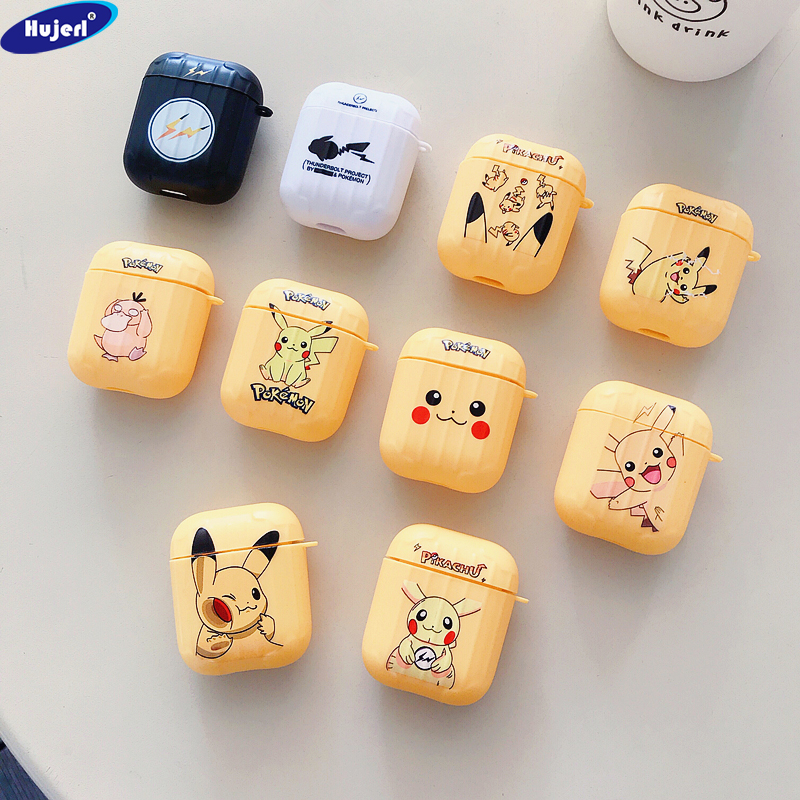 Cute Cartoon <font><b>Case</b></font> for Apple <font><b>Airpods</b></font> 2 Protective Premium <font><b>Pikachu</b></font> <font><b>Cases</b></font> with Soft Plastic Cover Skin for Air Pod 2 image