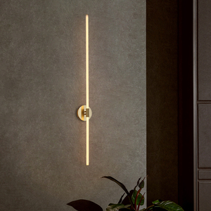 FANPINFANDO Gold Modern LED brief bedroom study wall lights simple bedside Creative light Living room Home wall lamps