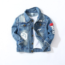 Boys Jeans Jackets Spring Autumn Boys Cartoon Casual Fashion Long Sleeve Outerwear Coat Outfits Kids Children Denim Clothing fashion children boys denim jackets coat baby boys tracksuits clothing casual turn down jeans coat autumn outwear top for boys