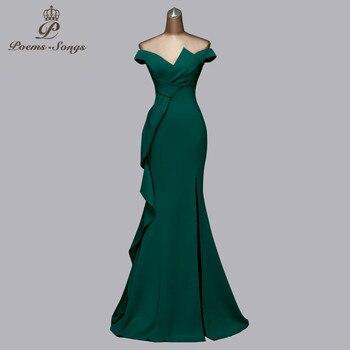 Beautiful new candy color evening dresses gree dress prom mermaid vestidos de fiesta noche women elegant - discount item  66% OFF Special Occasion Dresses