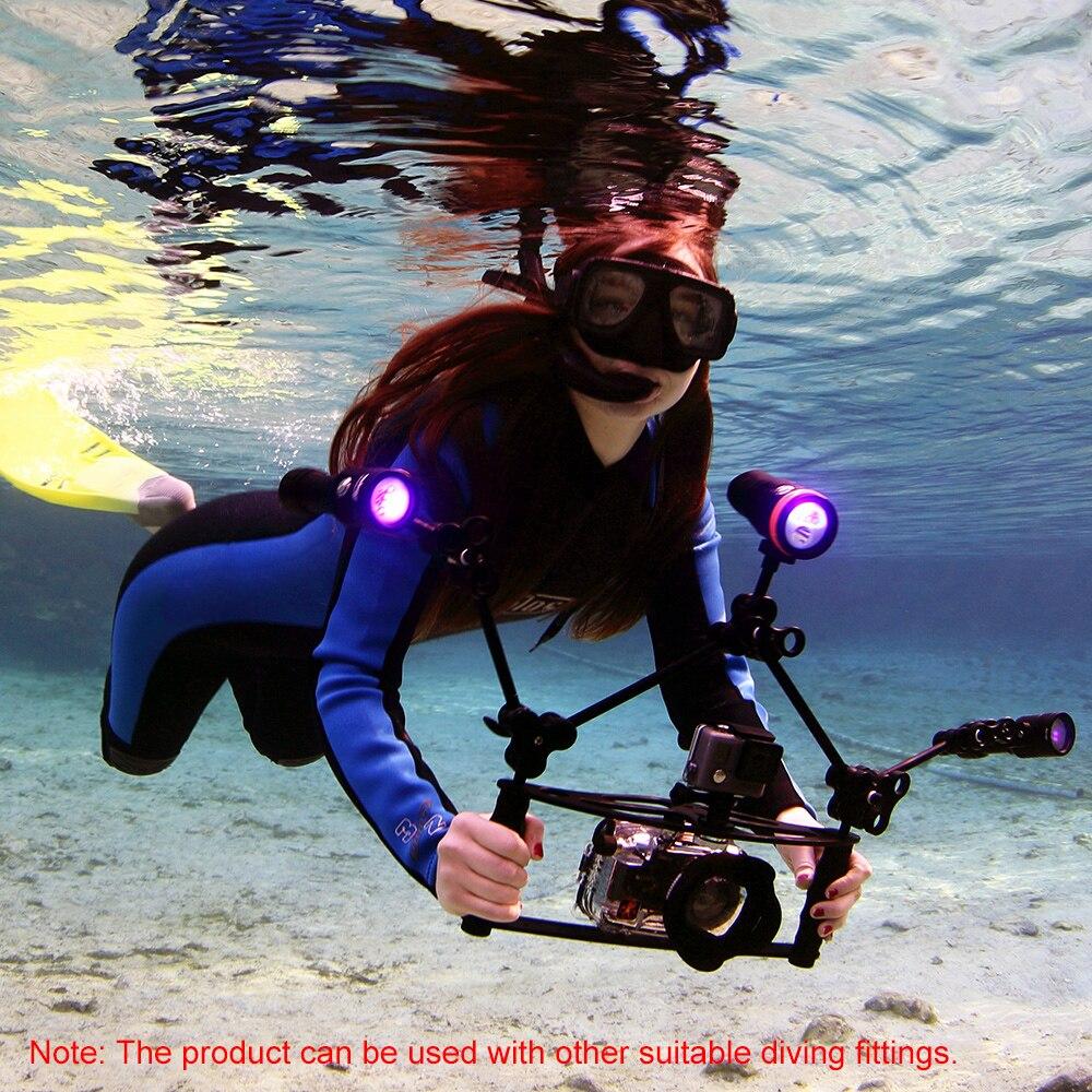 Support de caméra de plongée portable support de caméra pour GoPro Hero 7 6 5 4 caméras d'action plateau stabilisateur à double poignée